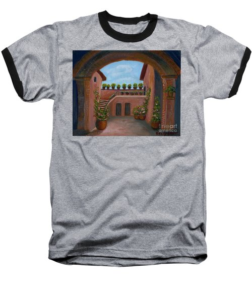 Baseball T-Shirt featuring the painting Tuscany Arch by Becky Lupe
