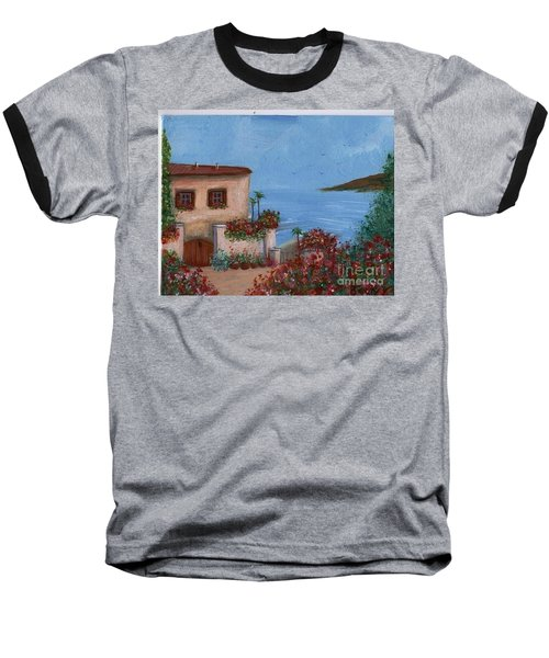 Tuscany View Baseball T-Shirt by Becky Lupe