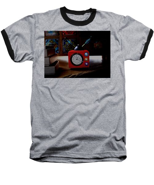 Tv Clock Baseball T-Shirt by David Pantuso