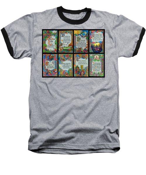 Twenty Third Psalm Collage 2 Baseball T-Shirt by Tikvah's Hope