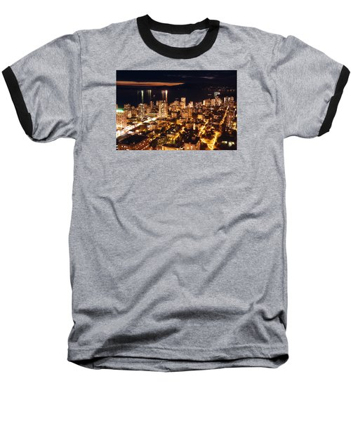 Baseball T-Shirt featuring the photograph Twilight English Bay Vancouver Mdlxvii by Amyn Nasser