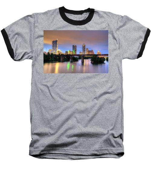 Twilight On The Lake Baseball T-Shirt