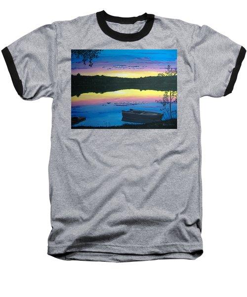 Twilight Quiet Time Baseball T-Shirt