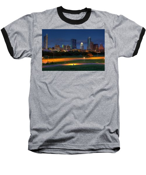 Twilight Skyline Baseball T-Shirt by Dave Files