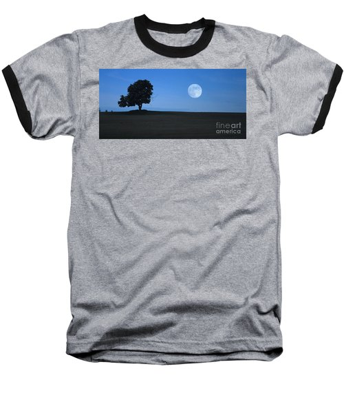 Baseball T-Shirt featuring the photograph Twilight Solitude by Sharon Elliott