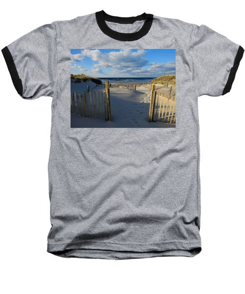 Golden Hour Beach Baseball T-Shirt by Dianne Cowen