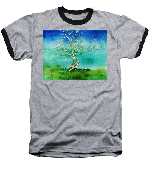 Twilight Tree Baseball T-Shirt