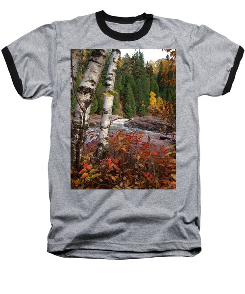 Twin Aspens Baseball T-Shirt by James Peterson