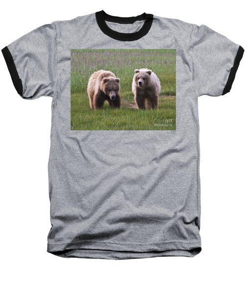 Twin Bear Cubs Baseball T-Shirt