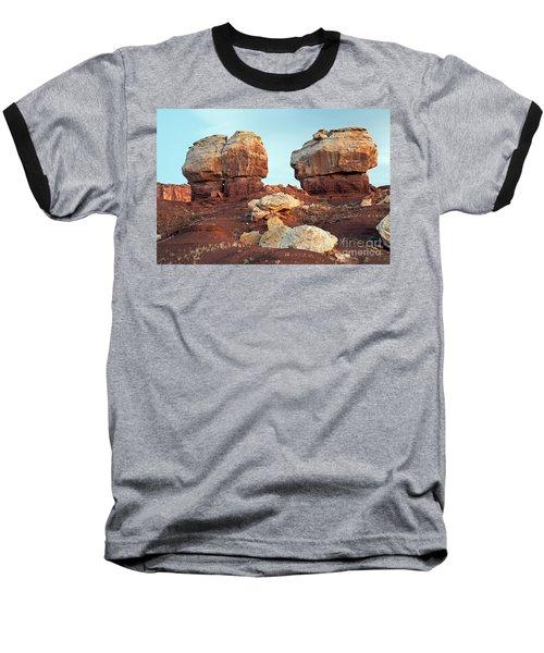 Twin Rocks At Sunrise Capitol Reef National Park Baseball T-Shirt