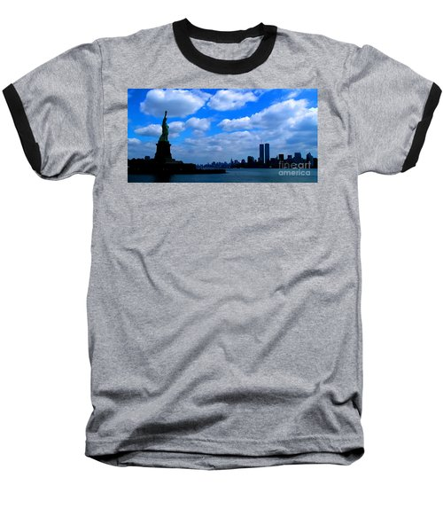 Twin Towers In Heaven's Sky - Remembering 9/11 Baseball T-Shirt