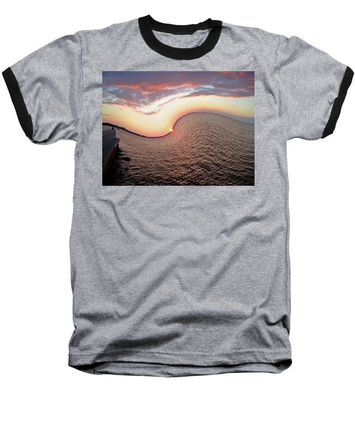 Baseball T-Shirt featuring the photograph Twisted Sunset by Aimee L Maher Photography and Art Visit ALMGallerydotcom