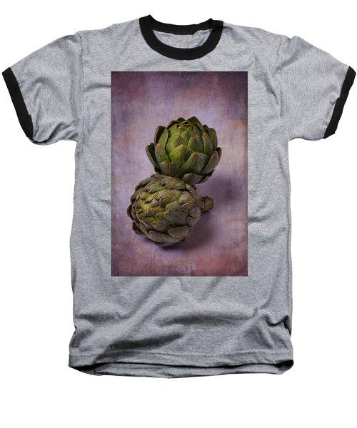 Two Artichokes Baseball T-Shirt