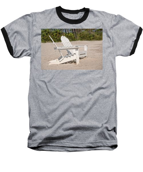 Baseball T-Shirt featuring the photograph Two Beach Chairs by Charles Beeler