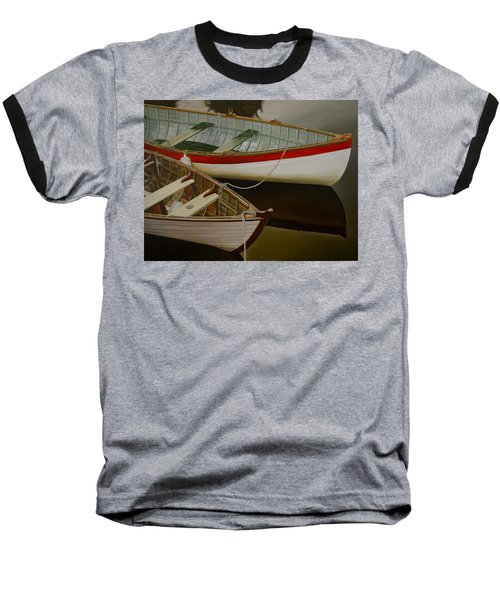 Baseball T-Shirt featuring the painting Two Boats by Thu Nguyen