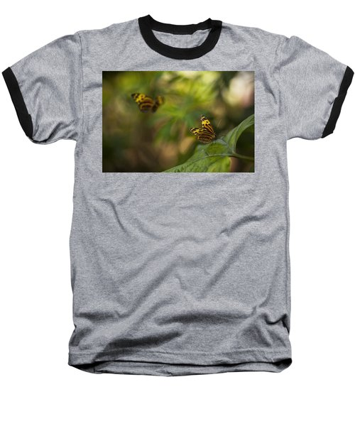 Two Butterflies Baseball T-Shirt
