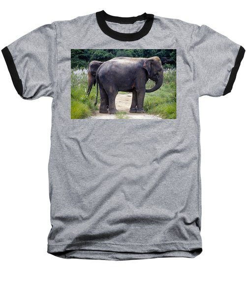 Two Elephants Baseball T-Shirt