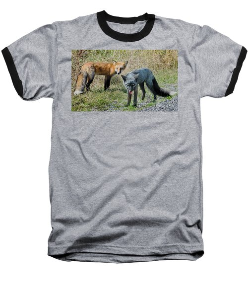 Two Fox Seattle Baseball T-Shirt by Jennie Breeze
