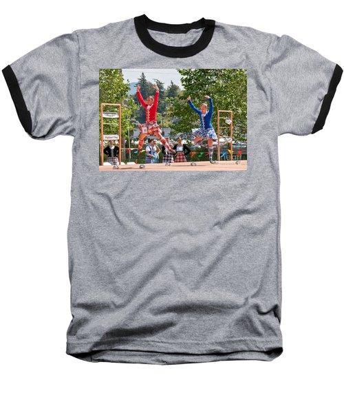 Two Girls Scottish Dancing Art Prints Baseball T-Shirt