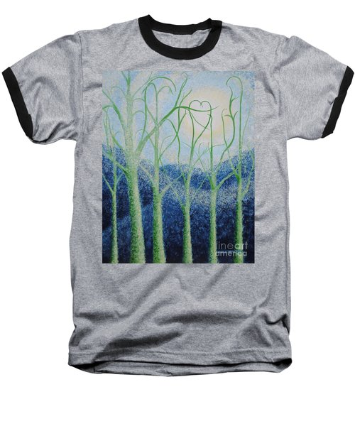 Baseball T-Shirt featuring the painting Two Hearts by Holly Carmichael