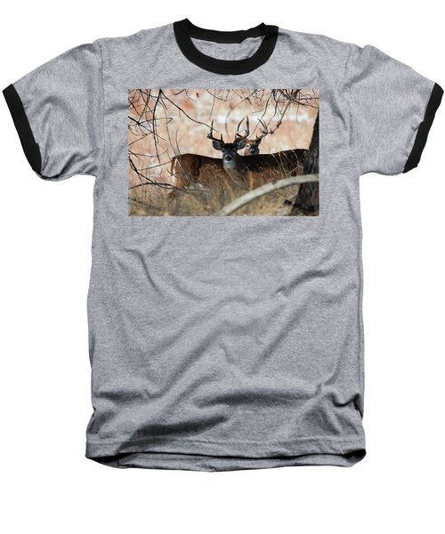 Baseball T-Shirt featuring the photograph Two In The Bush by Jim Garrison