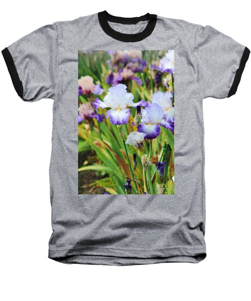 Baseball T-Shirt featuring the photograph Two Iris by Patricia Babbitt