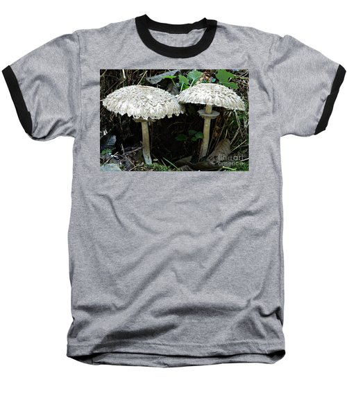 Two Magnificent Toadstools Baseball T-Shirt by Chalet Roome-Rigdon