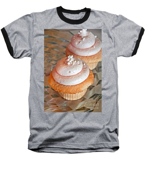 Two Pink Cupcakes Art Prints Baseball T-Shirt