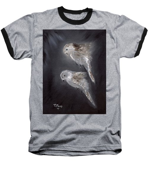 Baseball T-Shirt featuring the painting Two Spirits In The Night by Barbie Batson