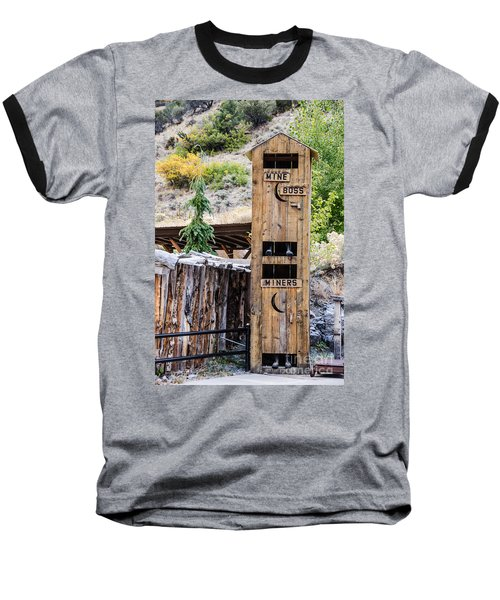 Baseball T-Shirt featuring the photograph Two-story Outhouse by Sue Smith