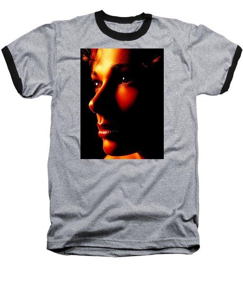 Two Tone Portrait Baseball T-Shirt