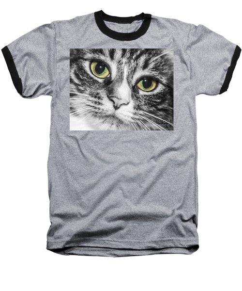 Two Toned Cat Eyes Baseball T-Shirt
