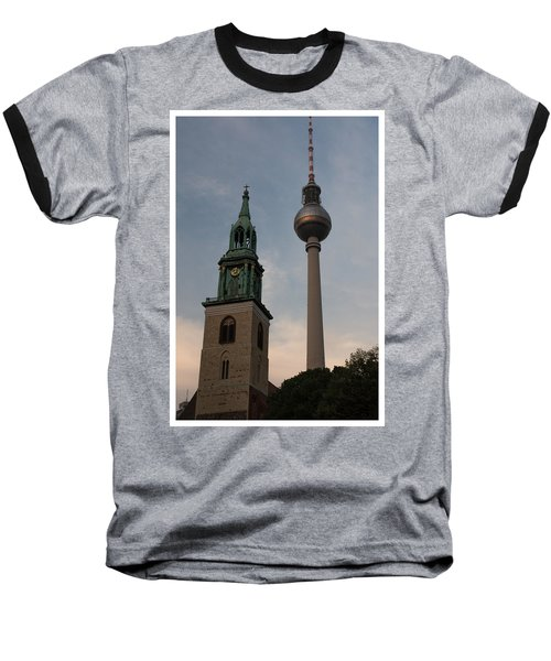 Two Towers In Berlin Baseball T-Shirt