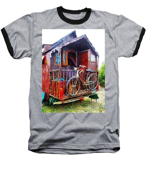 Two Wheels On My Wagon Baseball T-Shirt