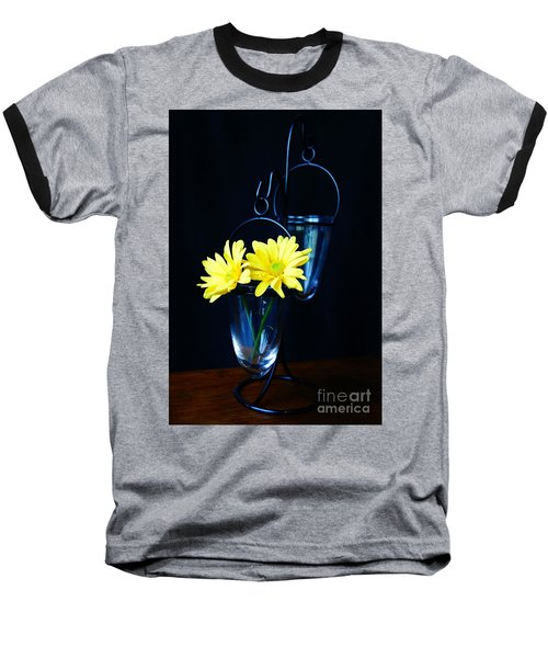 Two Yellow Daisies Baseball T-Shirt