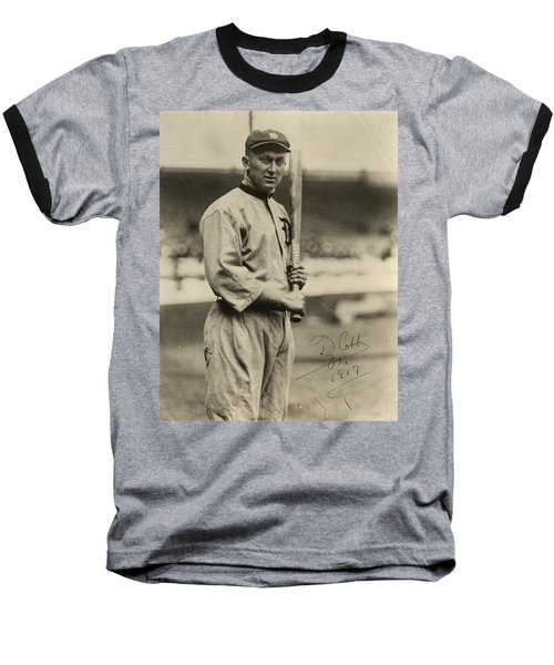 Ty Cobb  Poster Baseball T-Shirt by Gianfranco Weiss