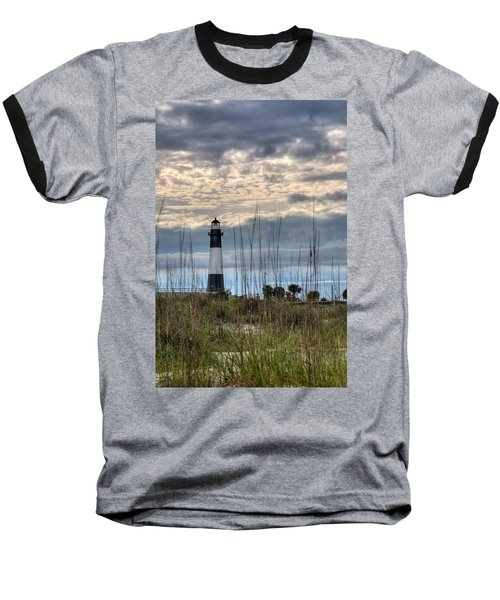 Tybee Light Baseball T-Shirt by Peter Tellone
