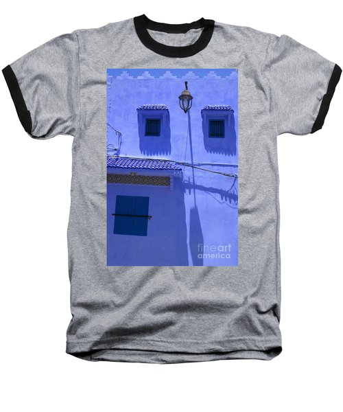 Baseball T-Shirt featuring the photograph Typical Blue Facade In The Medina Of Asilah On Northwest Tip Of Atlantic Coast Of Morocco by Ralph A  Ledergerber-Photography