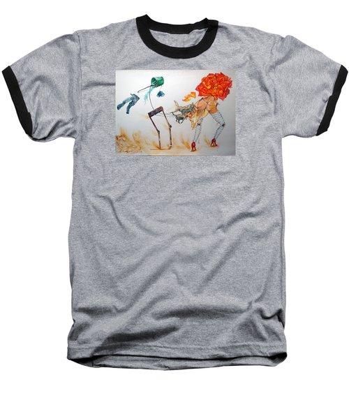 Tyrants Of Desire Baseball T-Shirt by Lazaro Hurtado