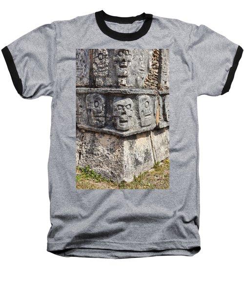 Tzompantli Or Platform Of The Skulls At Chichen Itza Baseball T-Shirt