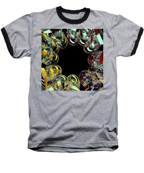 Baseball T-Shirt featuring the digital art U Of M Robot Huddle by Greg Moores