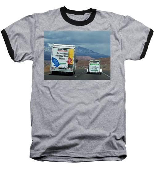 Uhaul On The Move Baseball T-Shirt by Tikvah's Hope