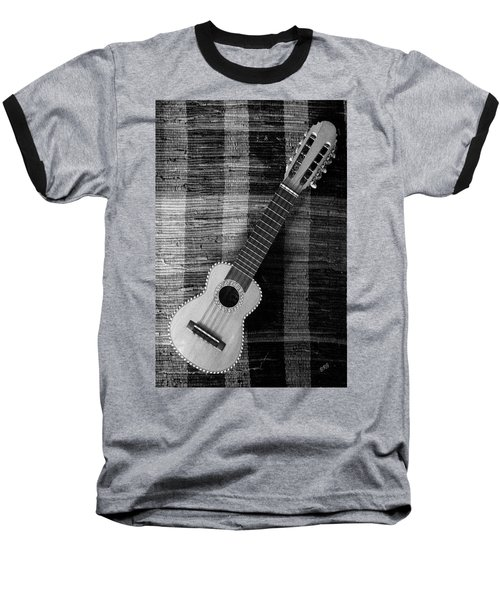 Ukulele Still Life In Black And White Baseball T-Shirt