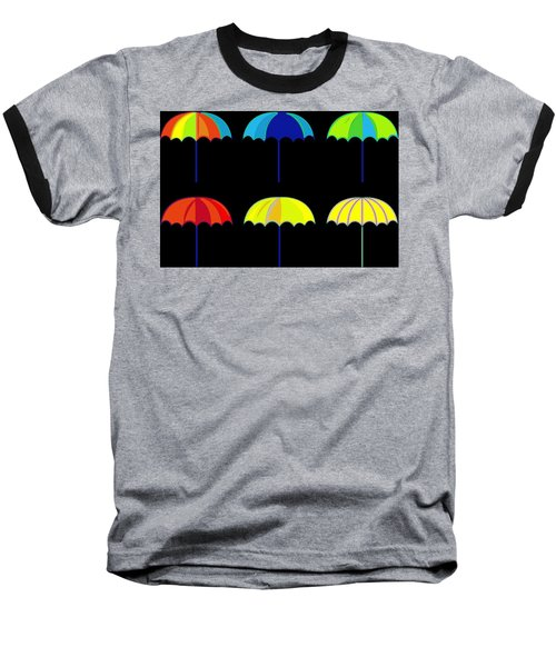 Umbrella Ella Ella Ella Baseball T-Shirt by Florian Rodarte