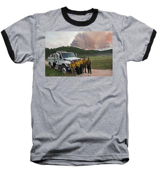 Baseball T-Shirt featuring the photograph Umpqua Engine 25 On Myrtle Fire by Bill Gabbert