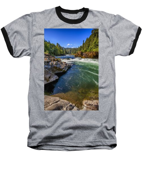 Umpqua River Baseball T-Shirt by David Millenheft