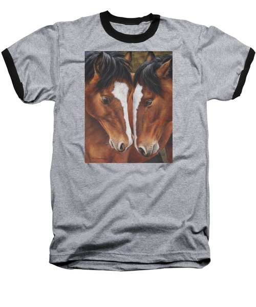 Baseball T-Shirt featuring the painting Unbridled Affection by Kim Lockman