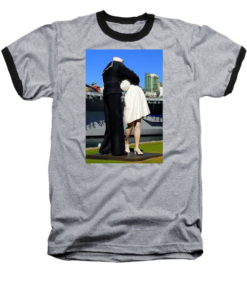 Baseball T-Shirt featuring the photograph Unconditional Surrender Kiss by Caroline Stella