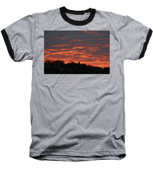 Under A Blood Red Sky Baseball T-Shirt by Neal Eslinger