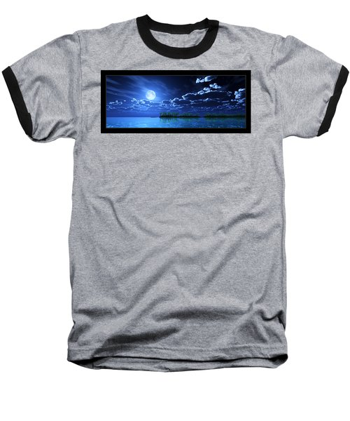 Under A Silvery Moon... Baseball T-Shirt by Tim Fillingim